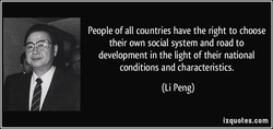 People of all countries have the right to choose 