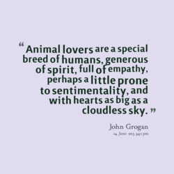 Animal lovers are a special 