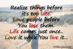Realize thys before 