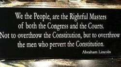 We the People, are the Rightful Masters 