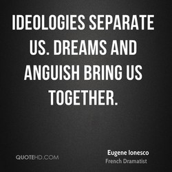 IDEOLOGIES SEPARATE 