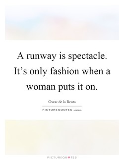 A runway is spectacle. 