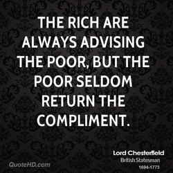 THE RICH ARE 