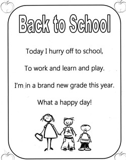 Today I hurry off to school, 