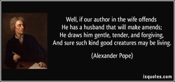 Well, if our author in the wife offends 