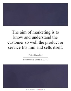 The aim of marketing is to 