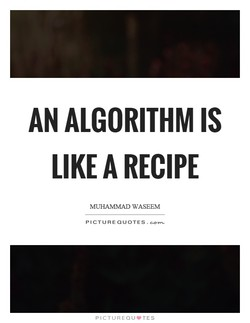 AN ALGORITHM IS 