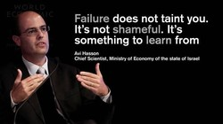 Failure does not taint you. 