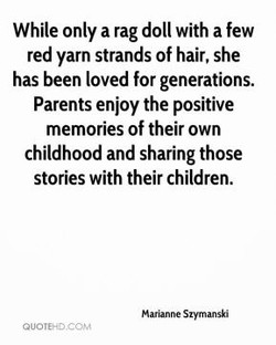 While only a rag doll with a few 