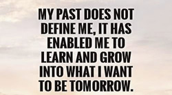 MY PAST DOES NOT