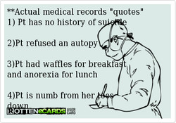 **Actual medical records