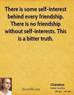 There is some self-interest 