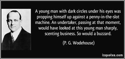 A young man with dark circles under his eyes was 