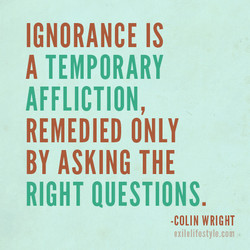 IGNORANCE IS 