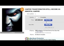VAMPIRE TRANSFORMATION SPELL-BECOME AN 