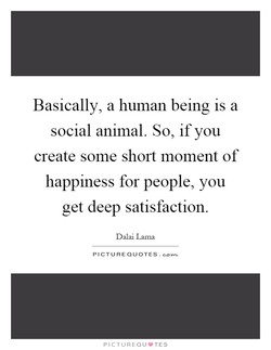Basically, a human being is a 