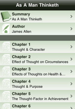 As A Man Thinketh Summary As A Man Thinketh Author James Allen Chapter 1 Thought & Character Chapter 2 Effect of Thought on Circumstances Chapter 3 Effects Of Thoughts on Health 8... Chapter 4 Thought & Purpose Chapter 5 The Thought-Factor in Achievement Chapter 6