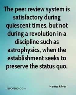 The peer review system is 