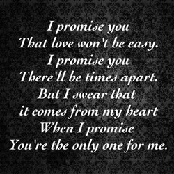 I promide you 