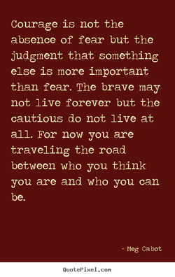 Courage is not the 
