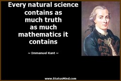 Every natural science 