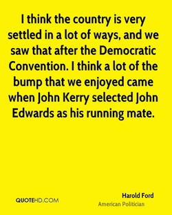 I think the country is very 
