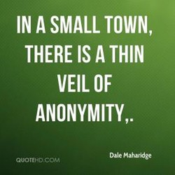 IN A SMALL TOWN, 