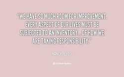 MUCH ROOM FOR IMROVEMENT. 