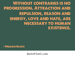 WITHOUT CONTRARIES IS NO 