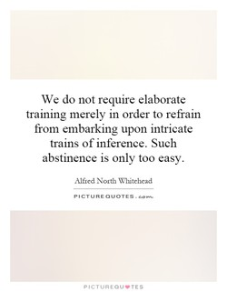 We do not require elaborate 