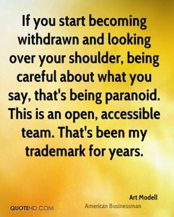 If you start becoming 