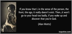 If you know that l, in the sense of the person, the 