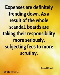 Expenses are definitely 