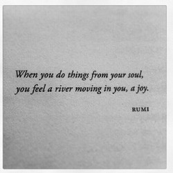 When you do things from your soul, 