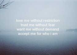 love me without restriction 