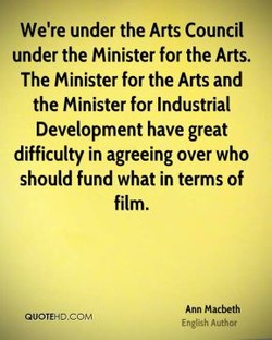 We're under the Arts Council 