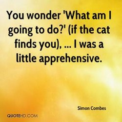 You wonder 'What am I 
