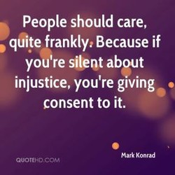 People should care, 