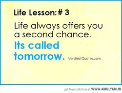 Life Lesson:# 3 