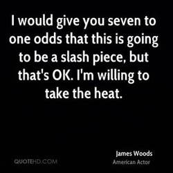 I would give you seven to 