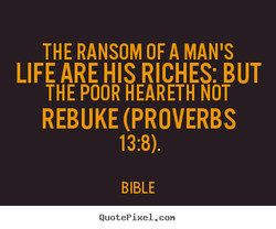 THE RANSOM OF A MAN'S 
