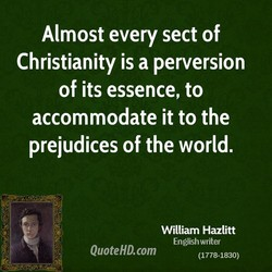 Almost every sect of 