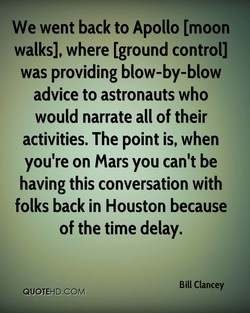We went back to Apollo (moon 
