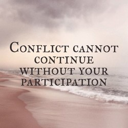 CONFLICT CANNOT 