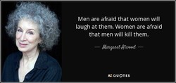 Men are afraid that women will 