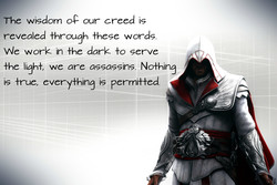 The wisdom our creed is 