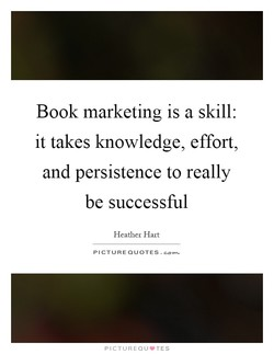 Book marketing is a skill: 