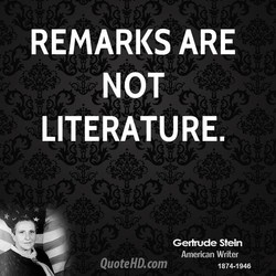 REMARKS ARE 