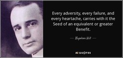 Every adversity, every failure, and 