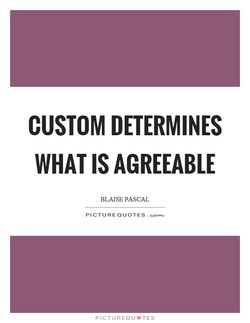 CUSTOM DETERMINES 